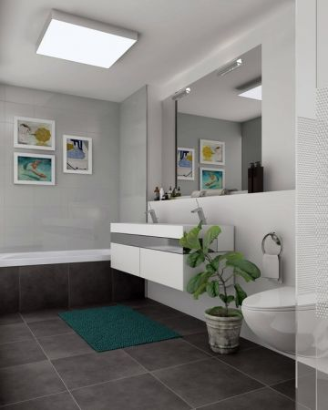 zwei separate Badezimmer