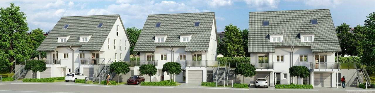 h user zum kauf in freiburg waltershofen stilvoll wohnen doppelhaush lfte am fu e des. Black Bedroom Furniture Sets. Home Design Ideas